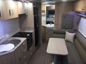 Eastern Caravan Hire caravan kitchen