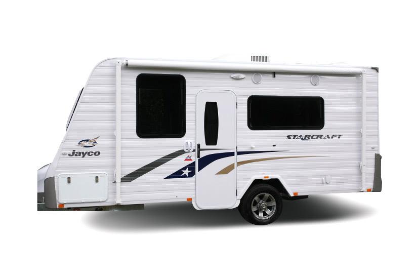 Eastern Caravan Hire Jayco starcraft external side view
