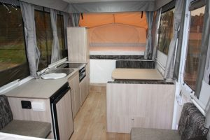 Eastern Caravan Hire Jayco Eagle Camper Interior