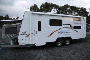 Eastern Caravan Hire Jayco Expanda Caravan Exterior