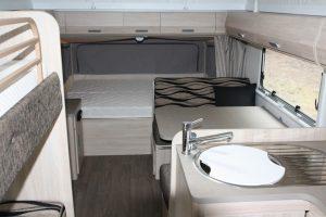 Eastern Caravan Hire Jayco Expanda Poptop Interior kitchen