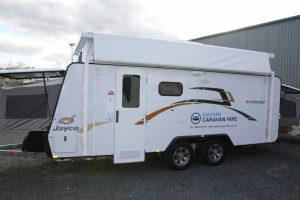 Eastern Caravan Hire Jayco Expanda Poptop with signage