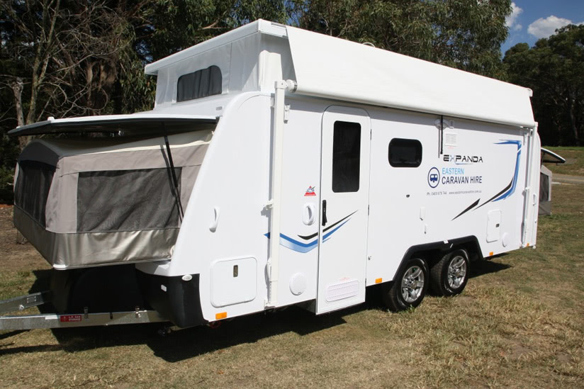 Eastern Caravan Hire Jayco Expanda Poptop set up