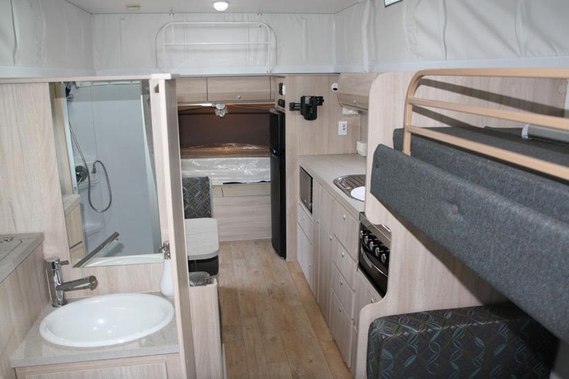 Eastern Caravan Hire Jayco Expanda Poptop inside