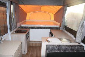 Eastern Caravan Hire Jayco Hawk Camper Interior