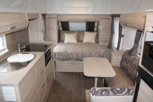 Eastern Caravan Hire Jayco Journey Poptop Interior kitchen