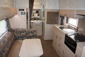 Eastern Caravan Hire Jayco Journey Poptop interior