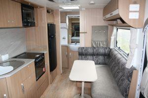 Eastern Caravan Hire Jayco starcraft caravan kitchen