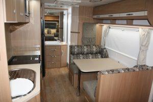 Eastern Caravan Hire Jayco starcraft caravan interior kitchen