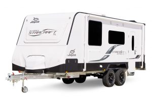 Eastern Caravan Hire Jayco starcraft caravan outside