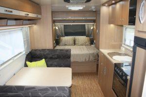 Eastern Caravan Hire Jayco starcraft caravan large bed