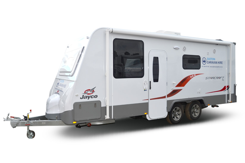 Eastern Caravan Hire Jayco starcraft front and side
