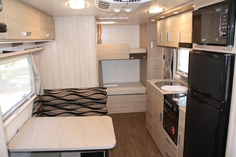 Eastern Caravan Hire Jayco starcraft caravan table