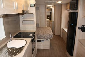 Eastern Caravan Hire Jayco starcraft caravan with fully equiped kitchen