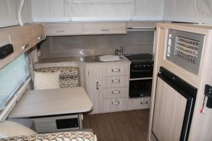 Eastern Caravan Hire Jayco starcraft poptop kitchen