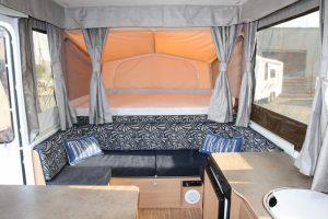 Eastern Caravan Hire Jayco swan camper internal