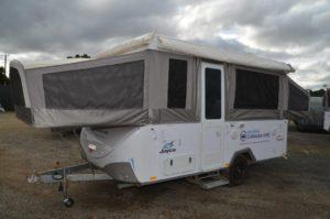 Eastern Caravan Hire Jayco poptop van swan external