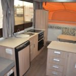 Eastern Caravan Hire Jayco poptop van internal swan