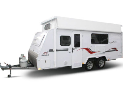 Eastern Caravan Hire Jayco poptop van with roof up