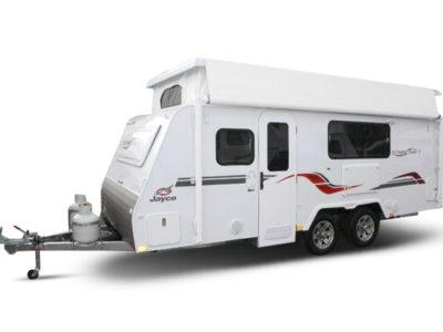 Eastern Caravan Hire Jayco poptop van with roof up