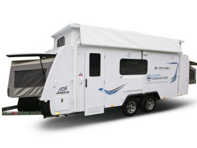 Eastern Caravan Hire Jayco poptop expanda image setup external