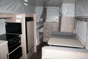 Eastern Caravan Hire Jayco poptop van internal kitchen