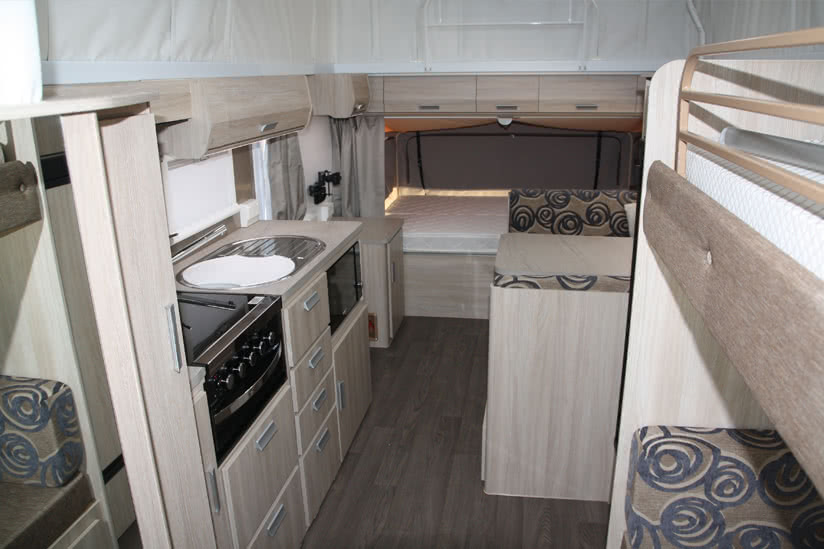 Eastern Caravan Hire Jayco expanda poptop roof up