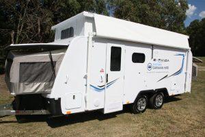 Eastern Caravan Hire Jayco expanda poptop setup