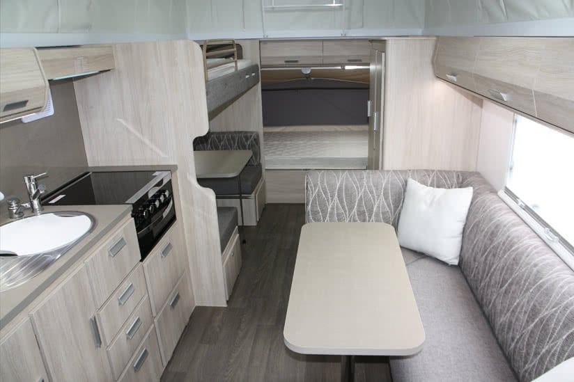 Eastern Caravan Hire Jayco expanda poptop kitchen seats