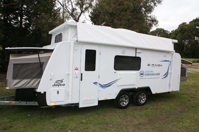 Eastern Caravan Hire Jayco expanda external image beds out