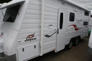 Eastern Caravan Hire Jayco caravan starcraft in yard