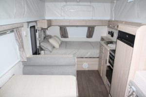 Eastern Caravan Hire Jayco poptop van internal