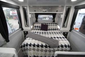 Eastern Caravan Hire paramount internal large bed